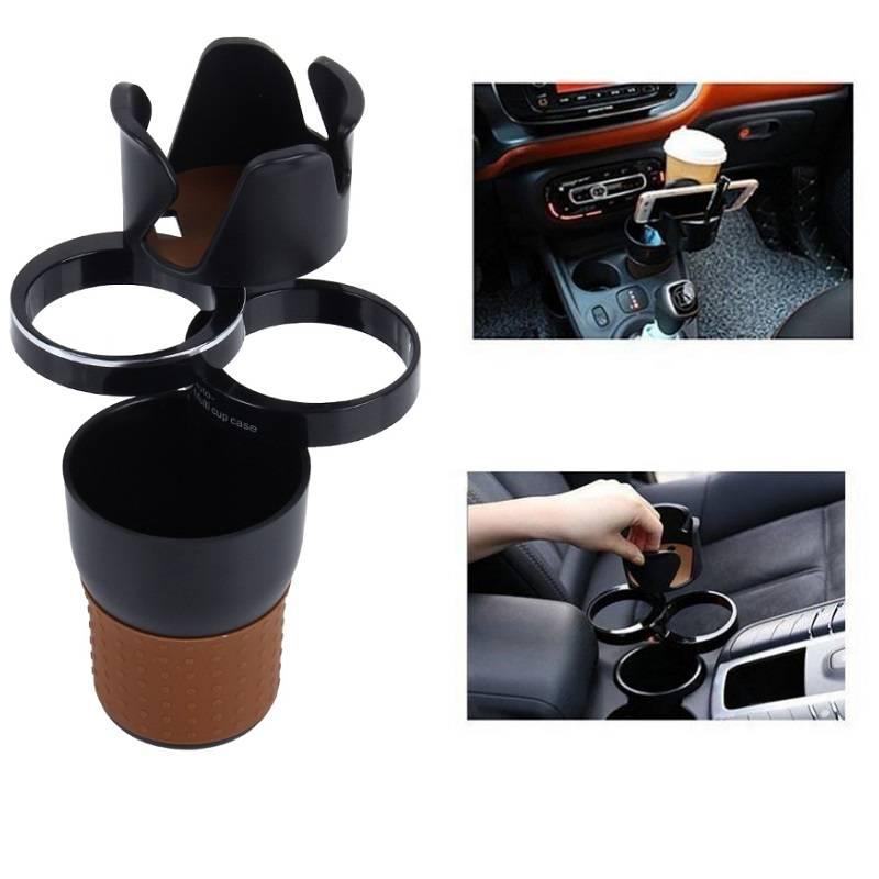 Support multifonctionnel automobile porte-gobelet téléphone