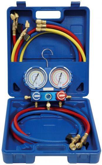 Coffret manomètre pour climatisation complète Manifold anti-chocs Mod. VMG-2-R410A